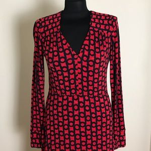 Milly Red/Black Pattern Dress